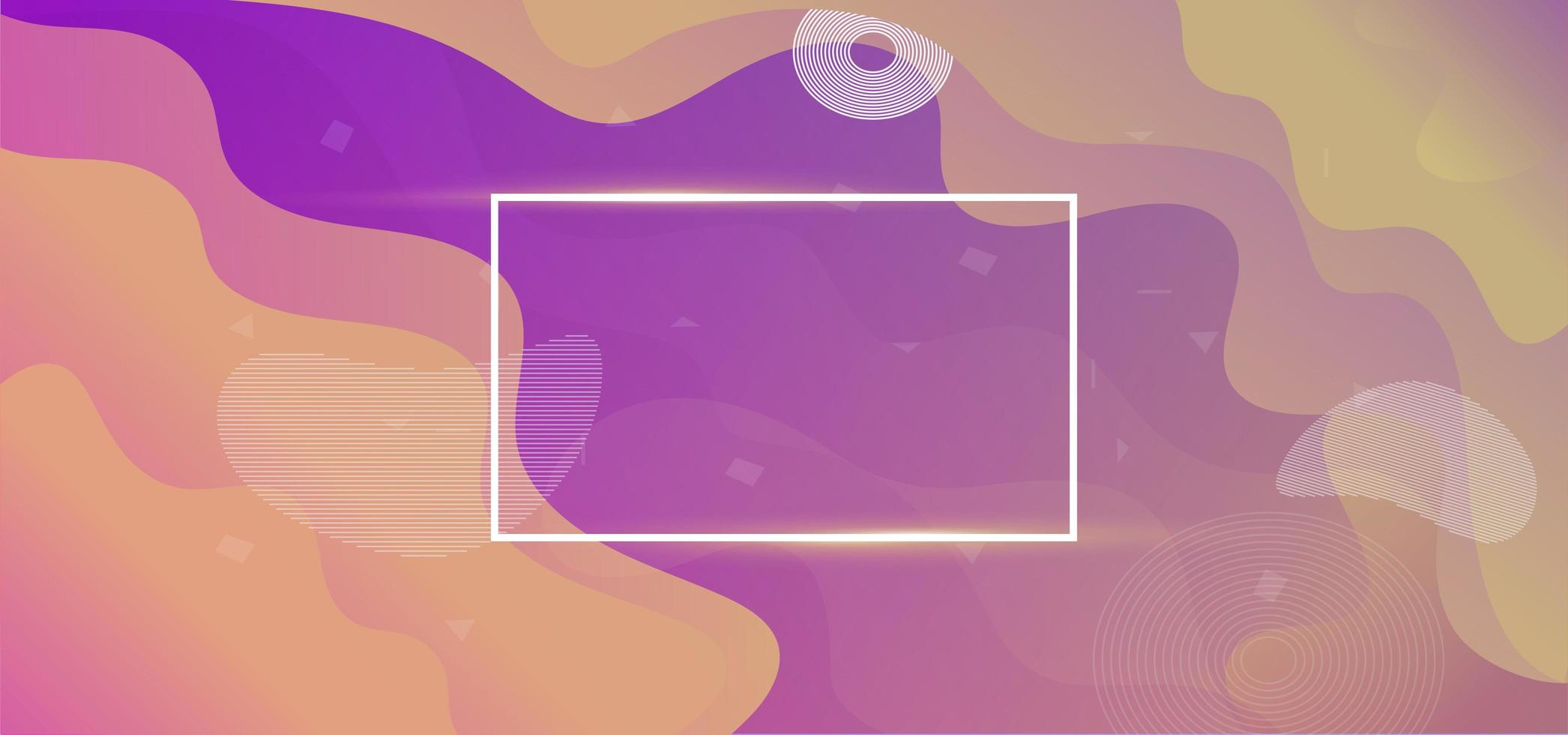 Liquify Fluid Color Banner Background vector