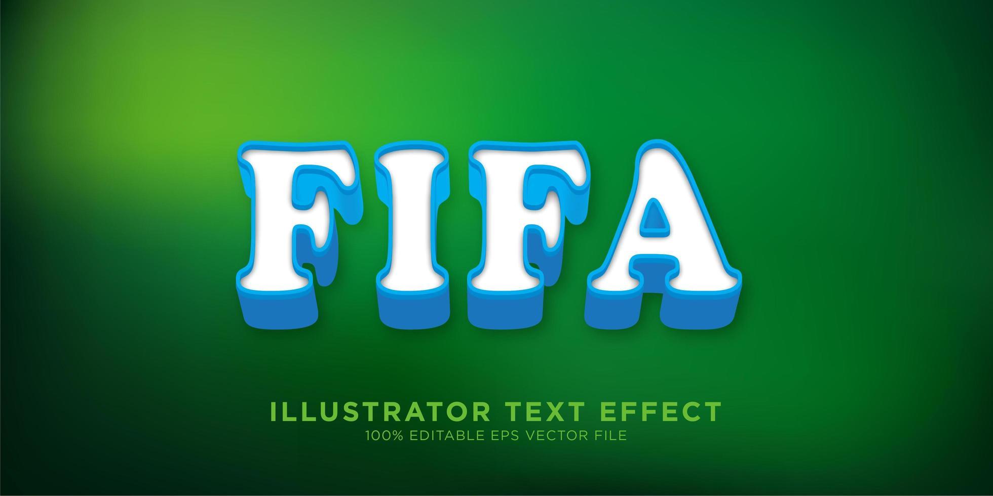 Texteffekt Illustrator Stil Effekt vektor
