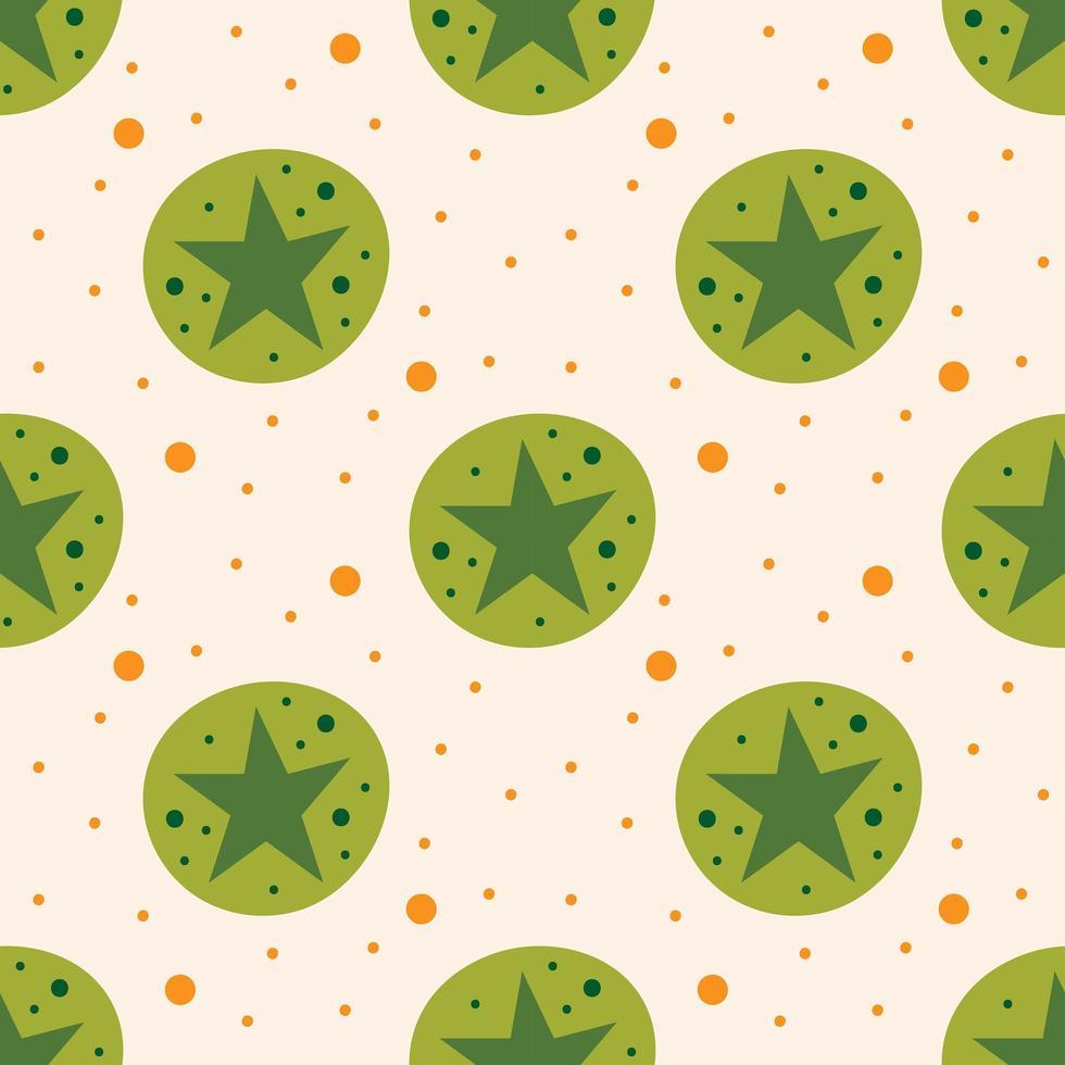 fond transparent étoiles vertes vecteur