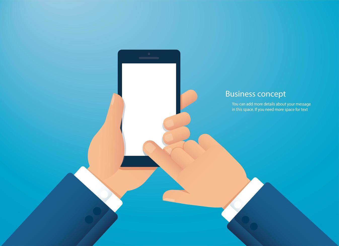 mano sosteniendo smartphone vector