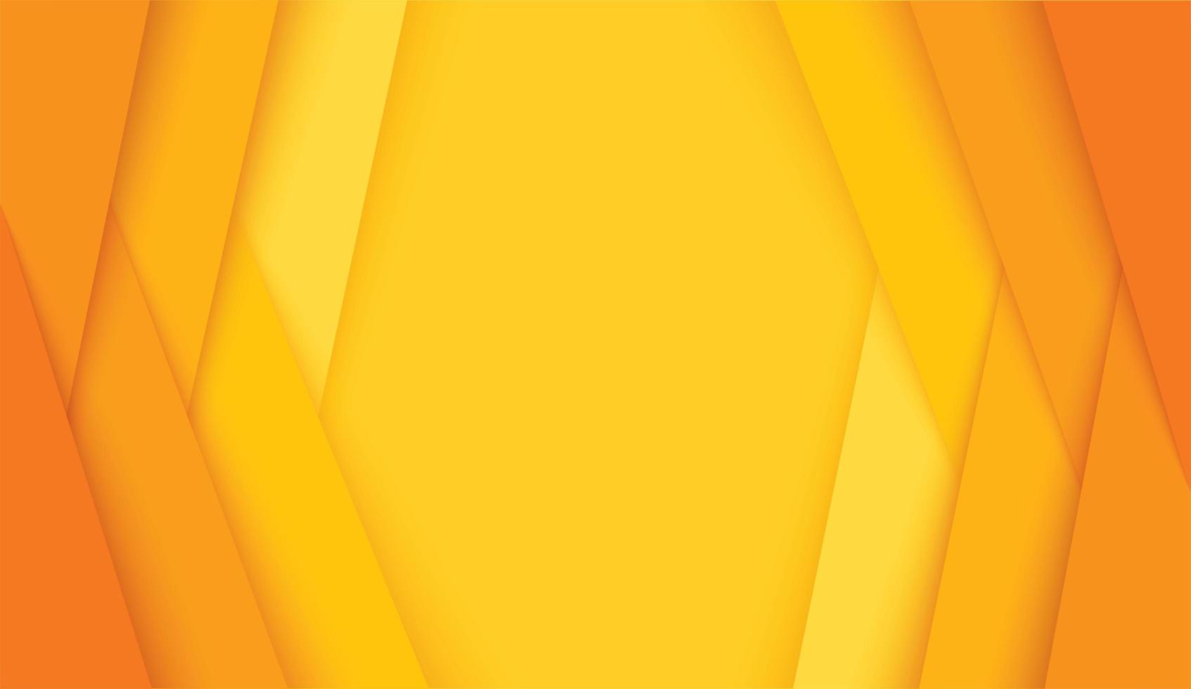 modern oranje en geel hoekig lagenkader vector