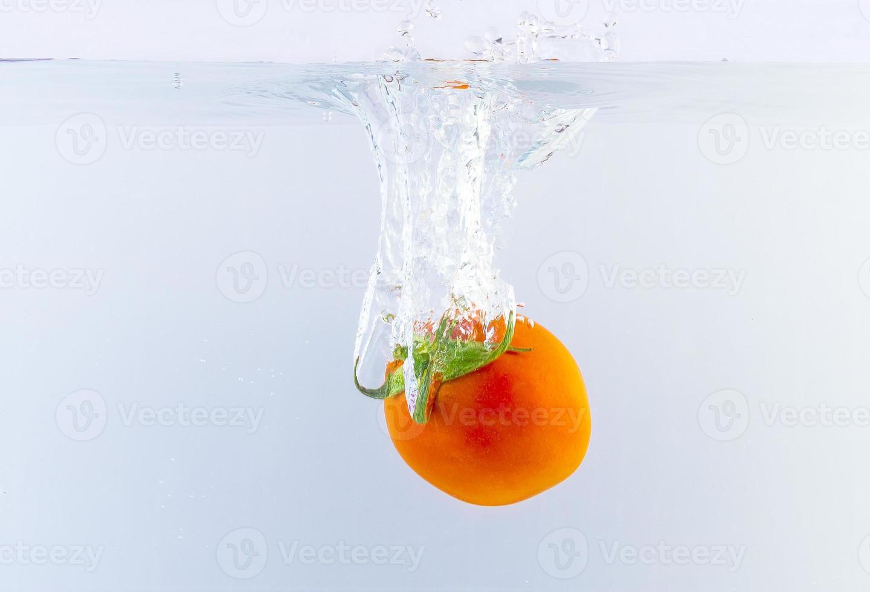 vegetal caindo na superfície da água foto