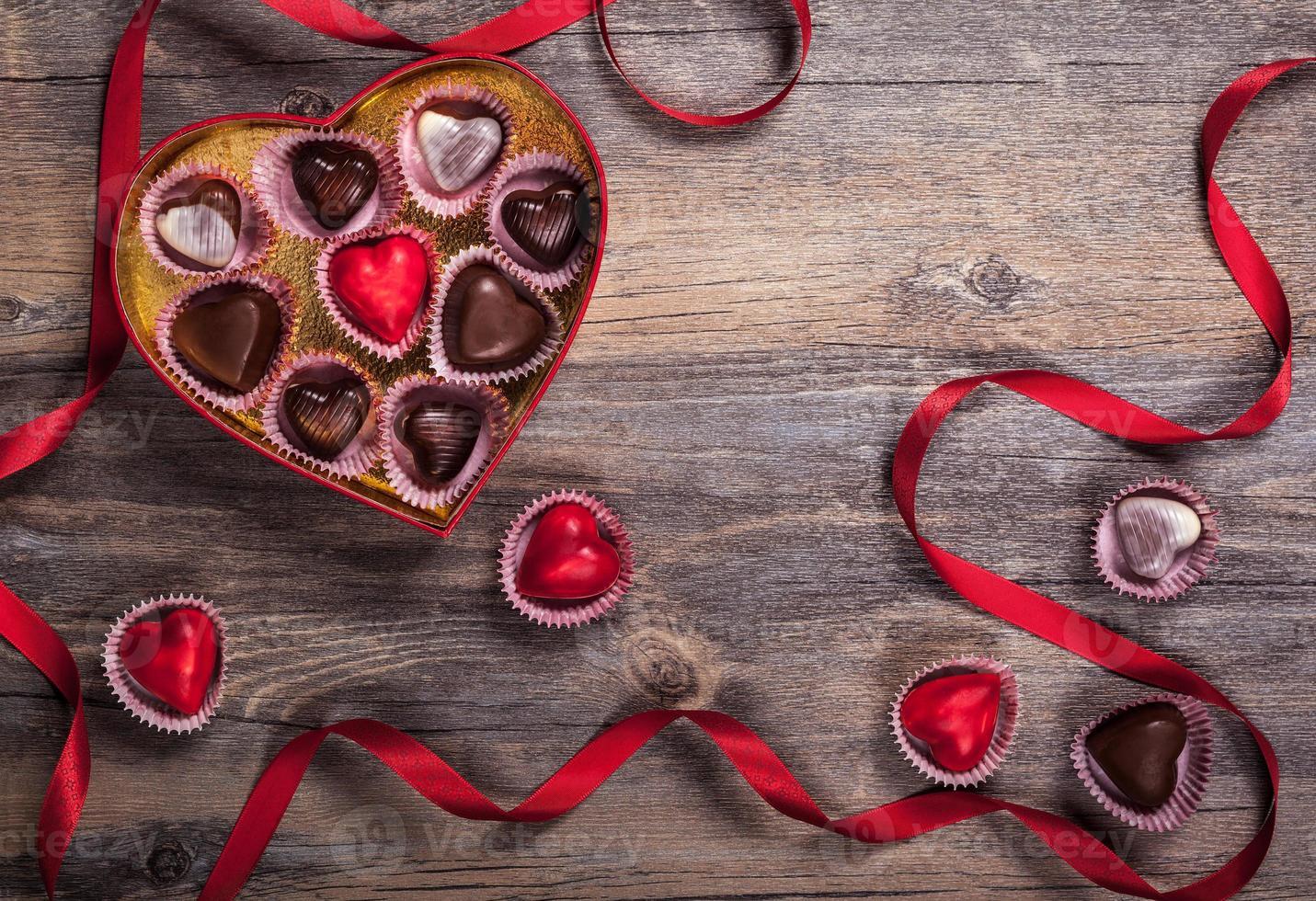chocolaatjes voor Valentijnsdag foto