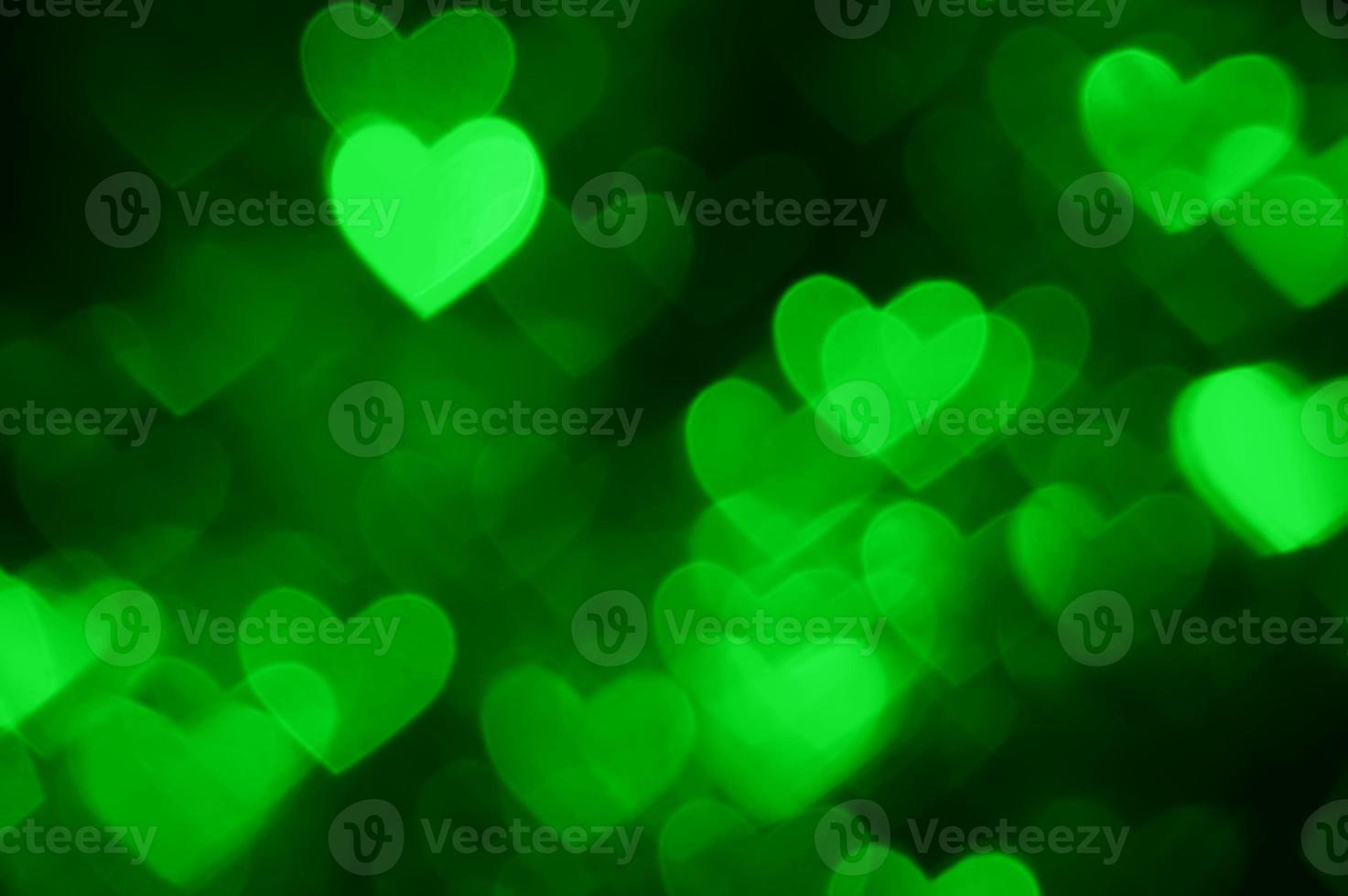 fundo de foto de férias em formato de coração verde