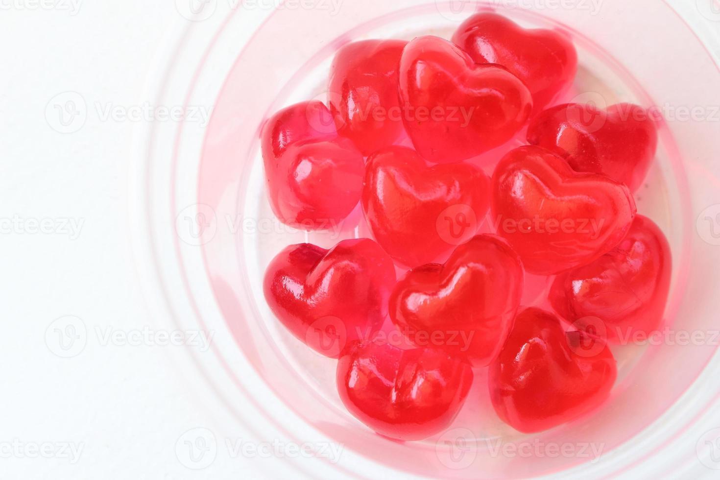 gros plan gelée de coeur rouge photo