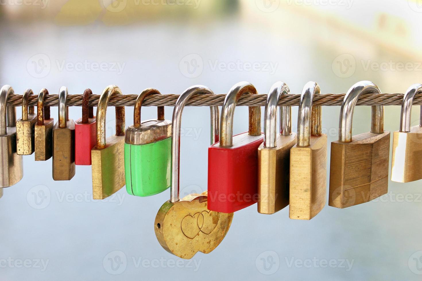 Metal padlocks photo