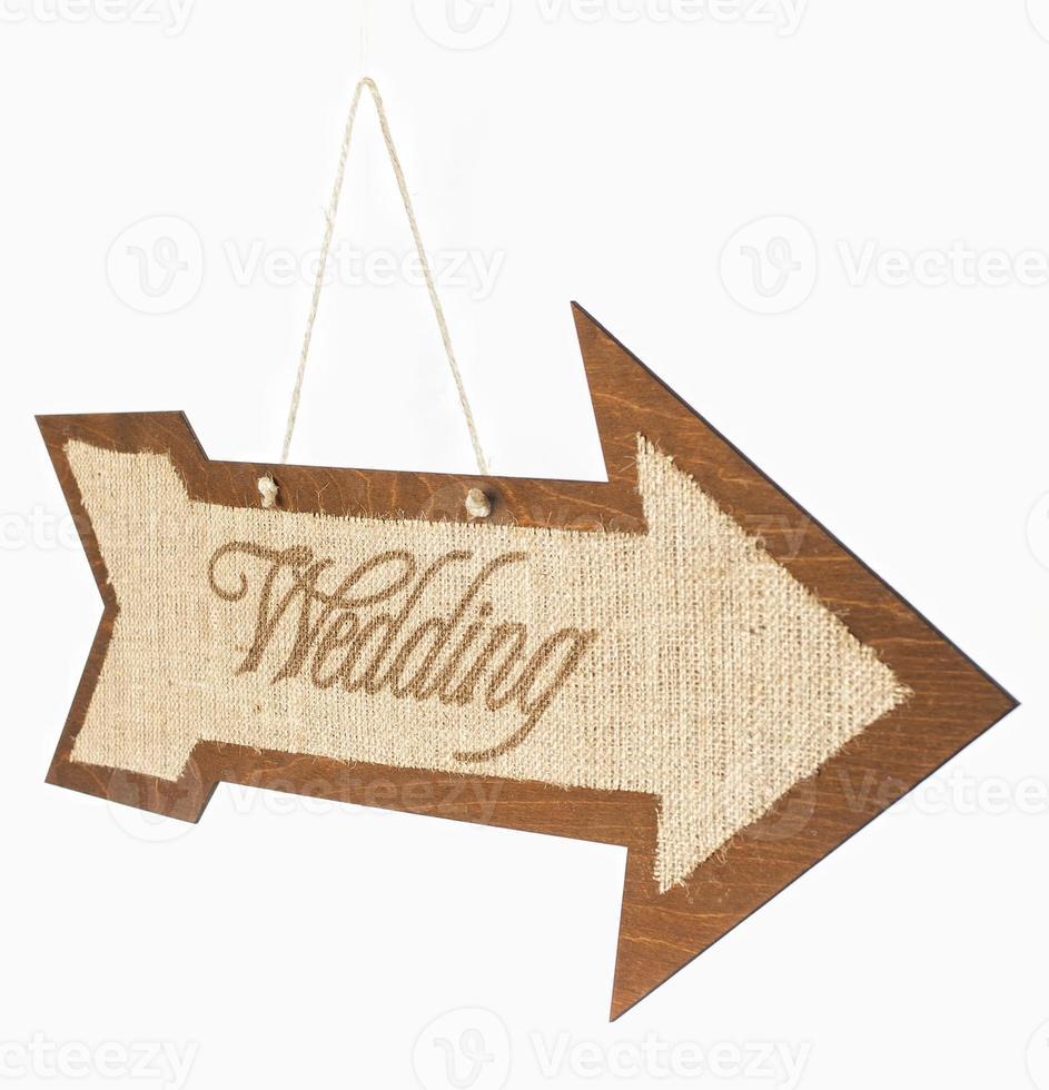 Wedding Sign Arrow photo