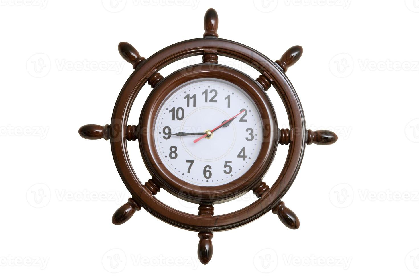 Wall clocks in the form of marine steering wheel photo