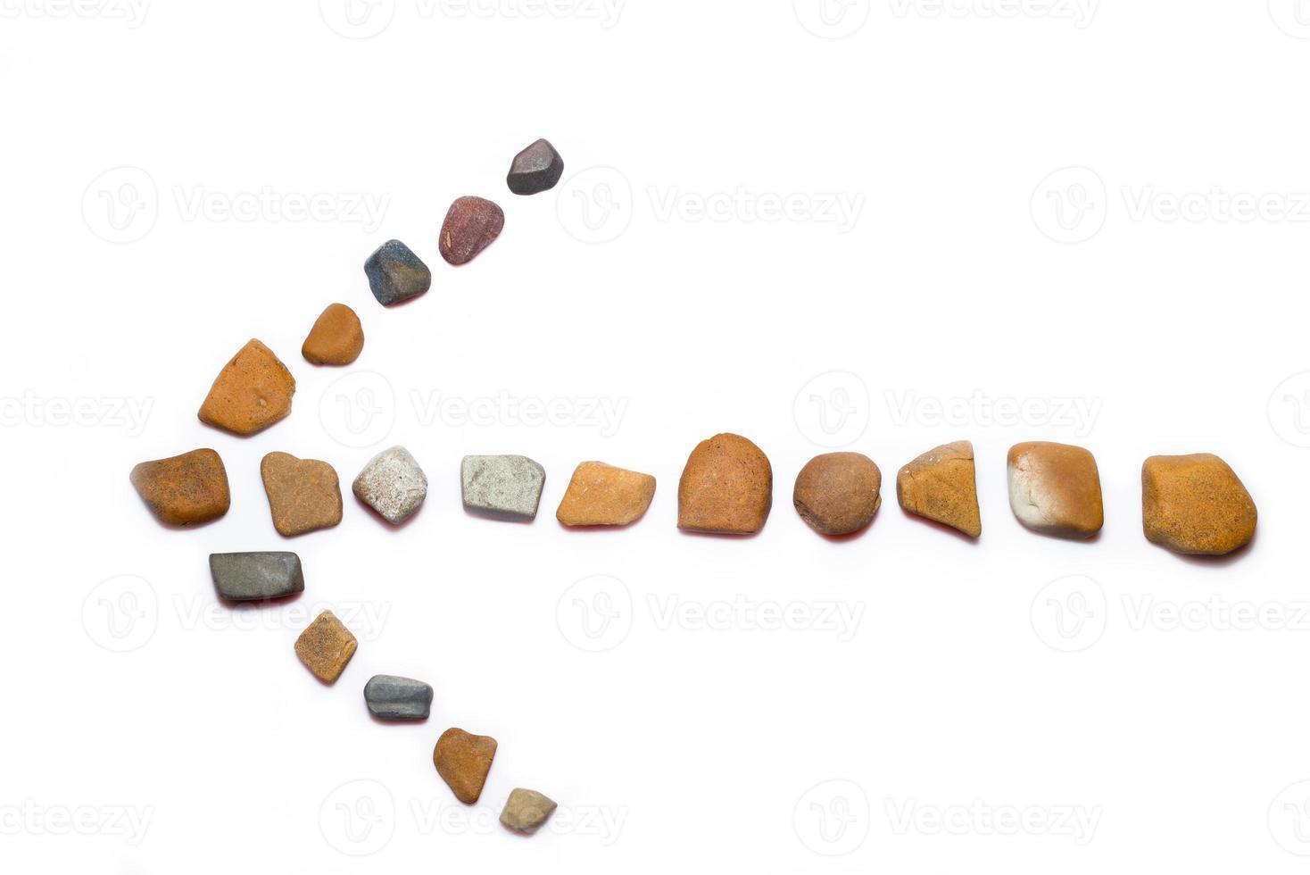 flecha de piedras foto
