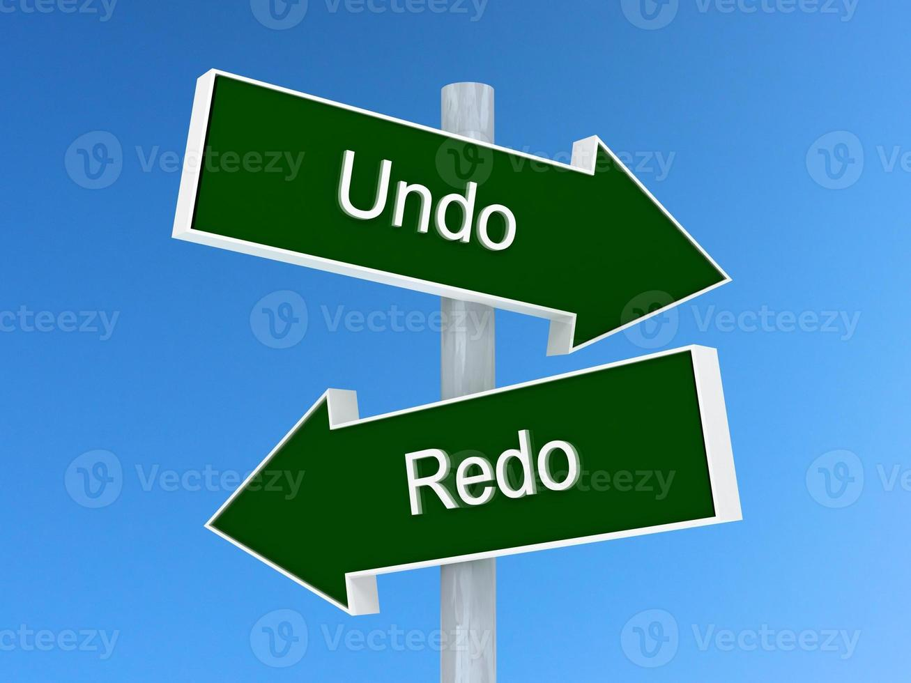 Undo or redo sign. photo