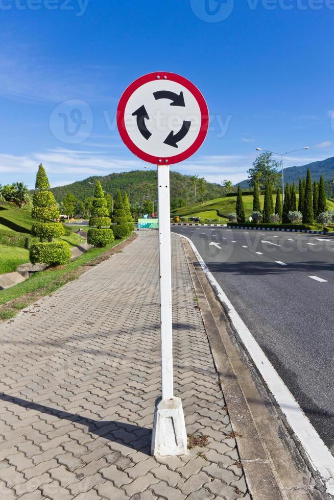 Señal de tráfico foto