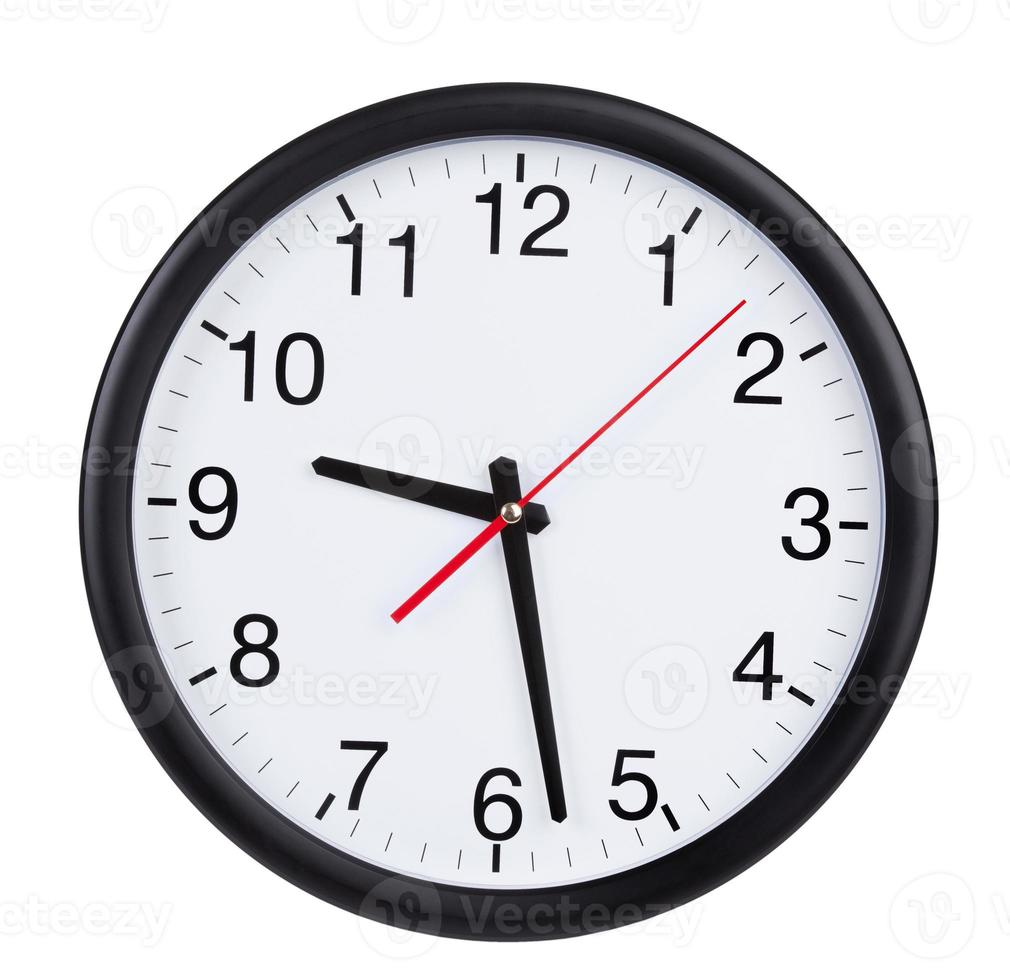 Black and white Wall clock showing 928 photo