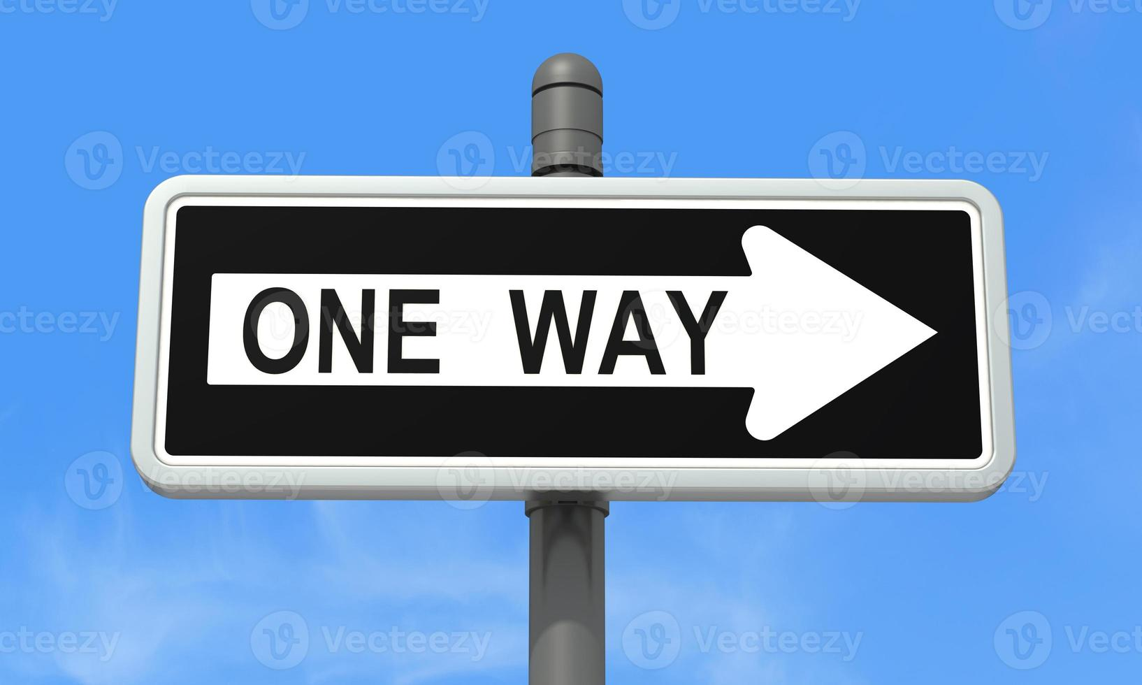 One-way sign photo