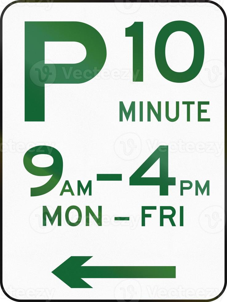 Ten Minute Parking In Australia photo