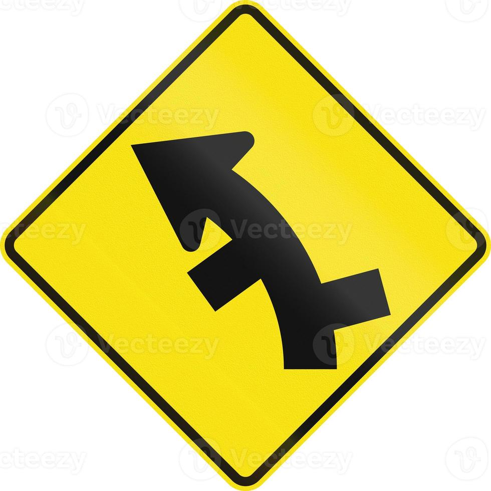Offset Roads In Curve In Australia photo