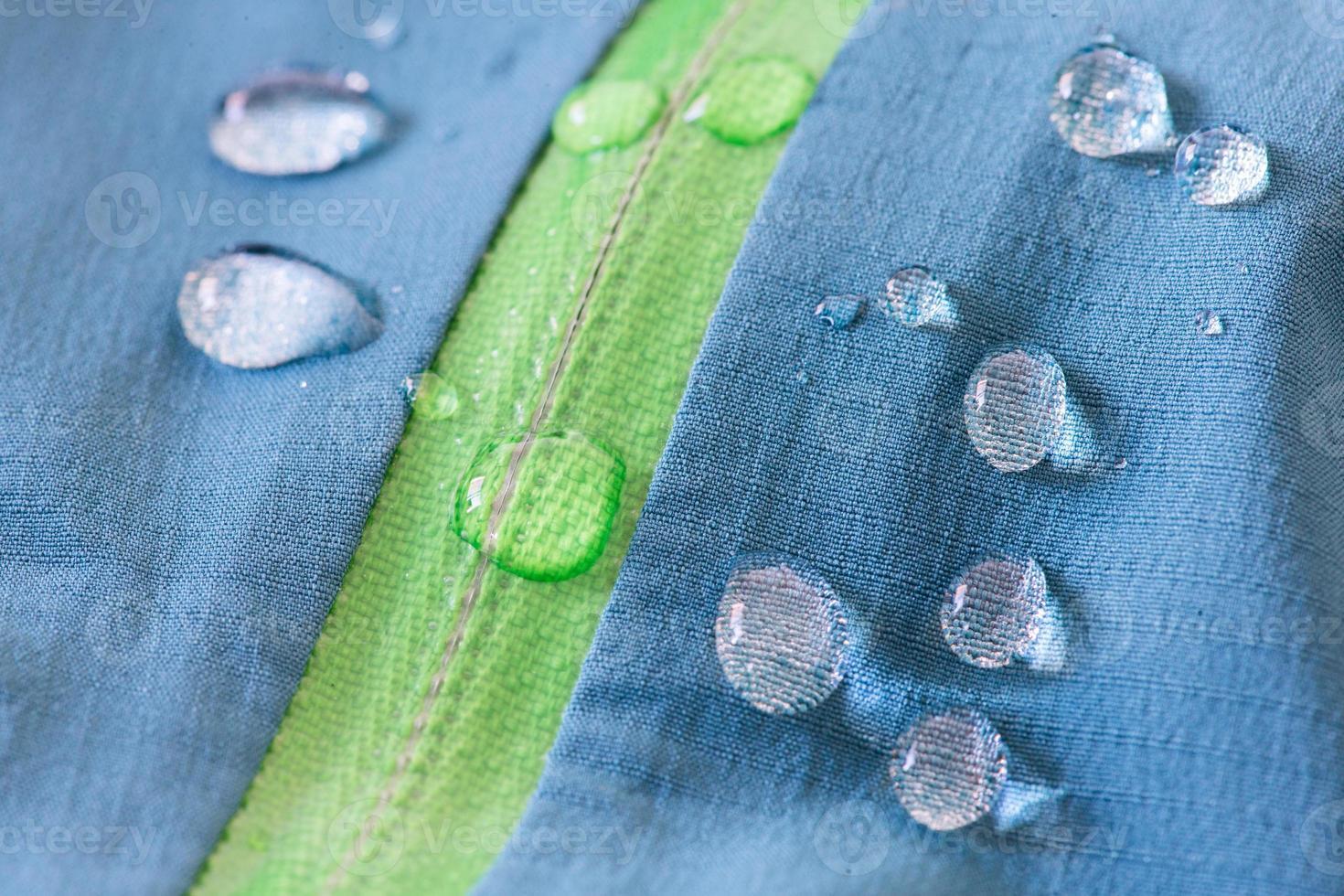 textil impermeable con cremallera repele el agua foto