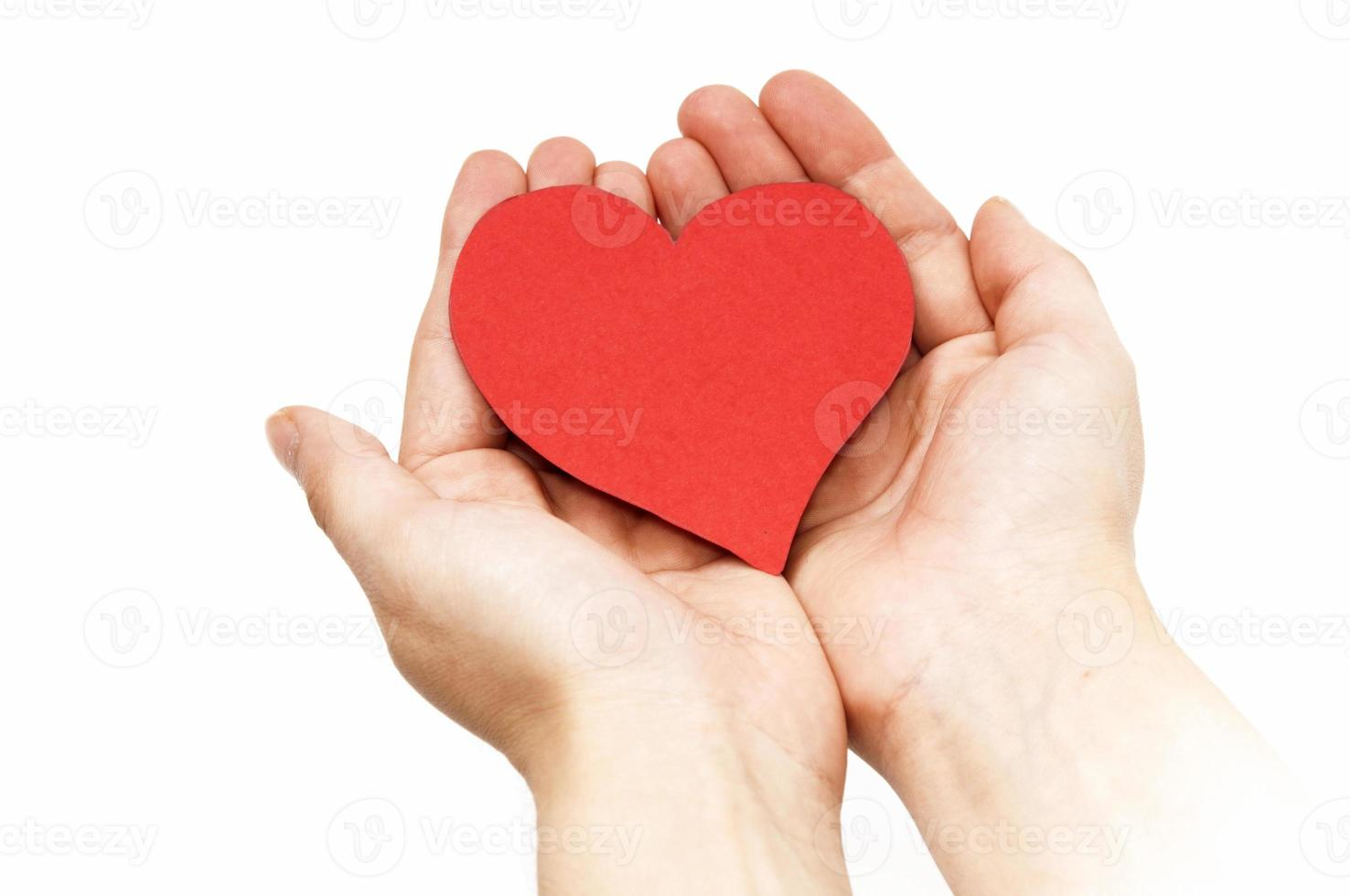 mano con corazón foto