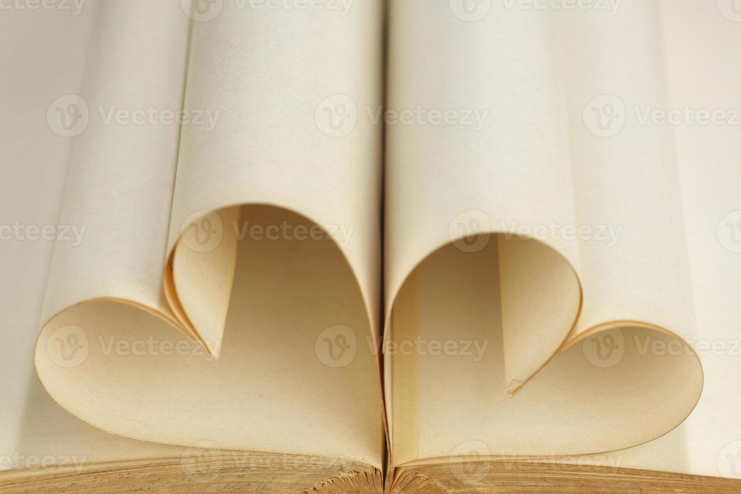 corazón dentro de un libro foto