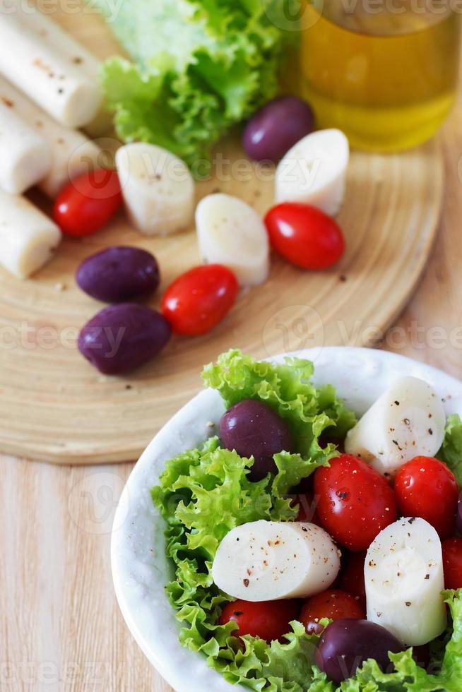 ensalada fresca de palmito (palmito) foto