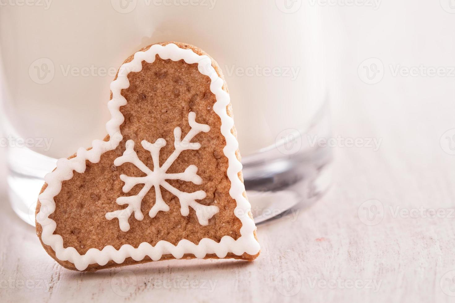 gingerbread cookie and milk photo