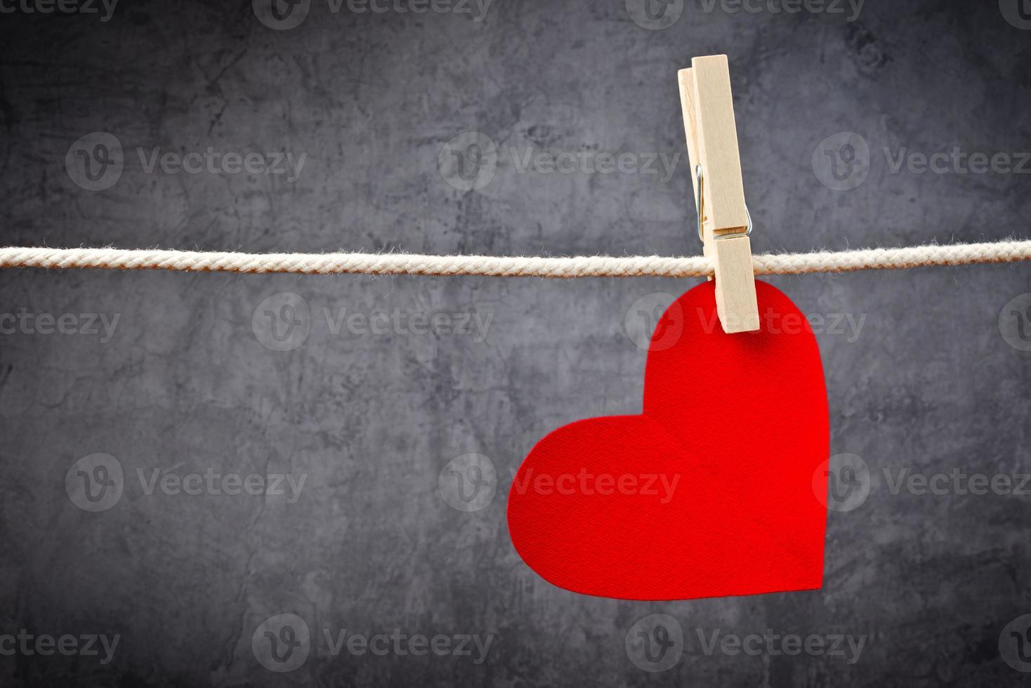 tarjeta de san valentin en forma de corazon foto