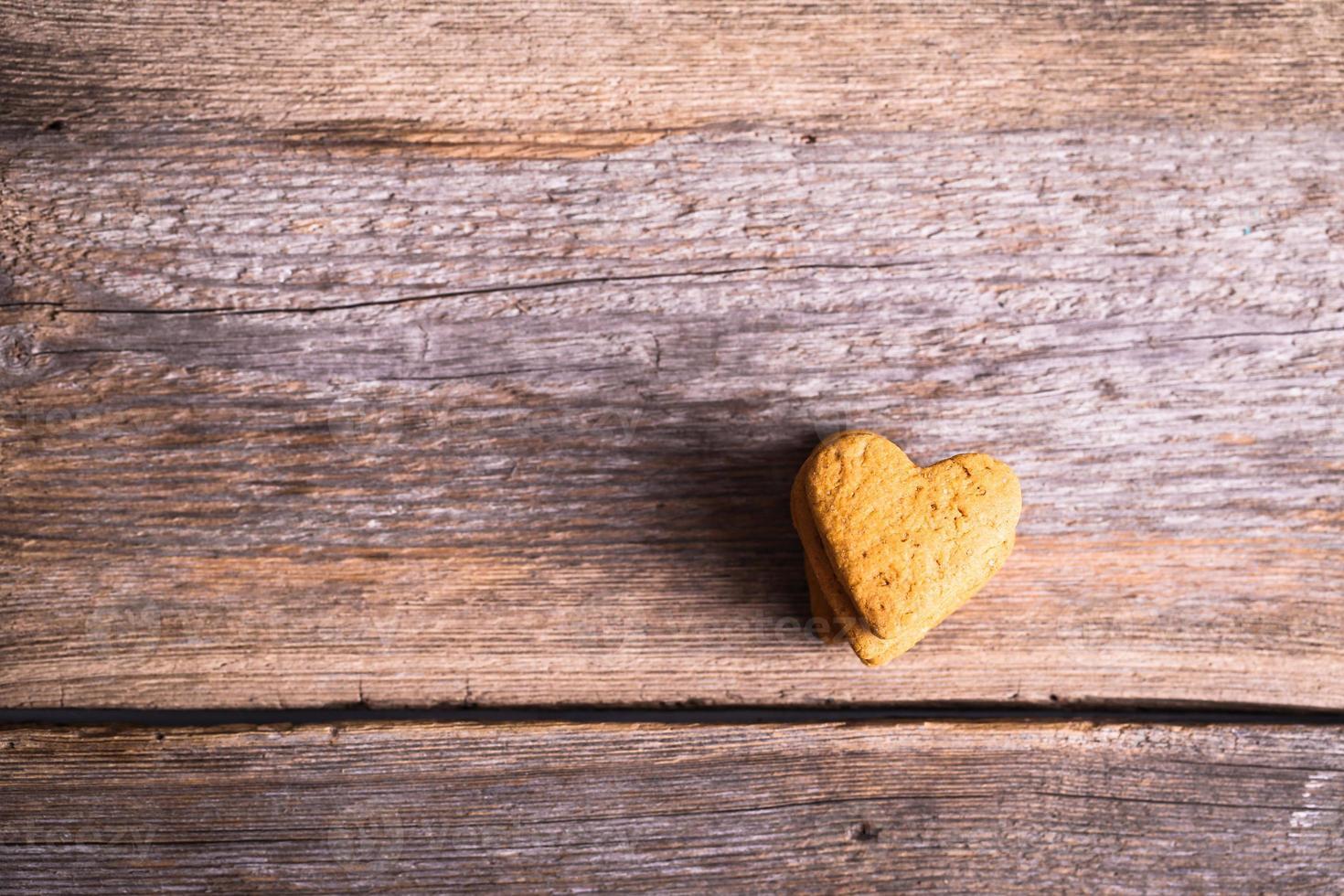 galletas en forma de corazón foto