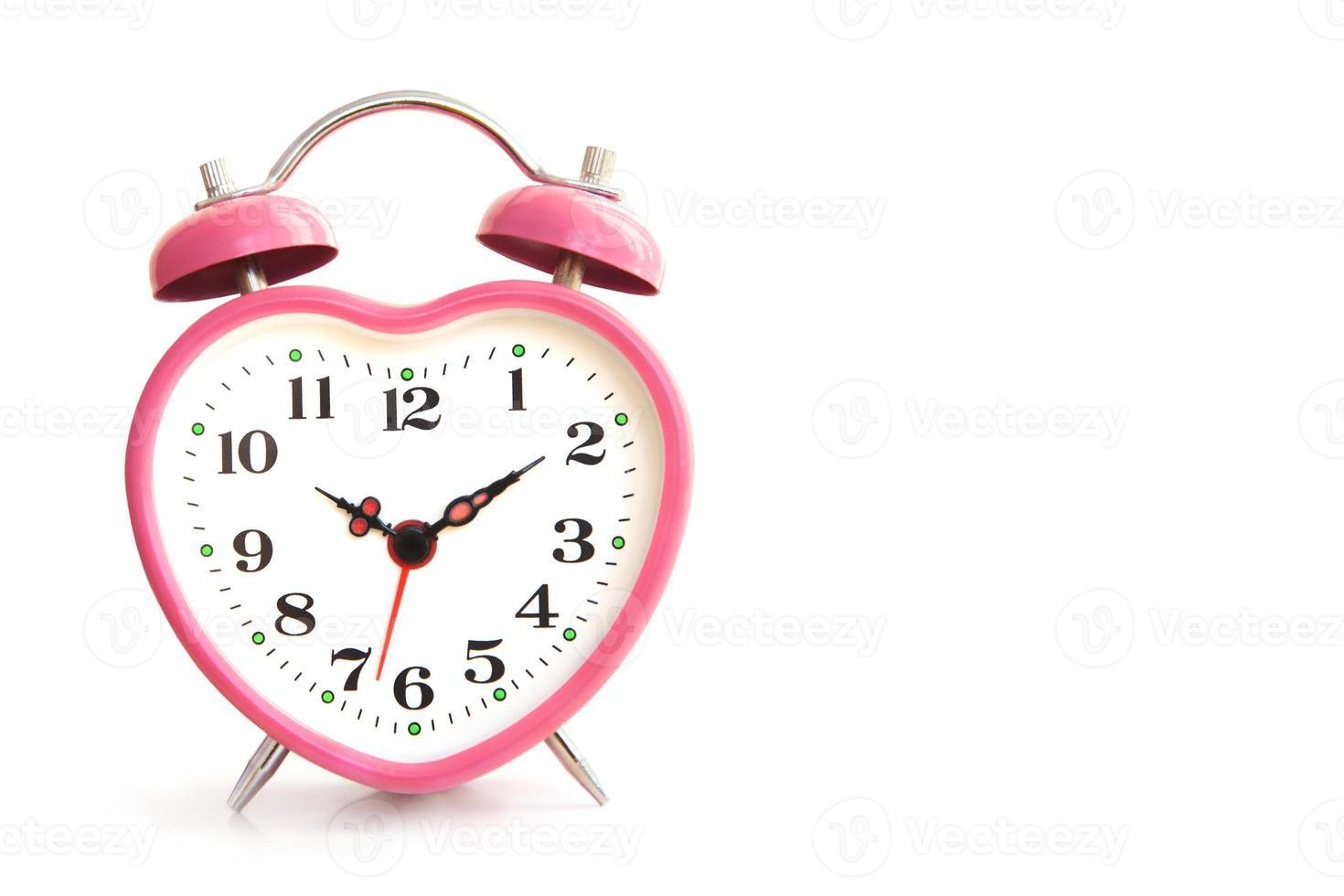 reloj despertador rosa foto