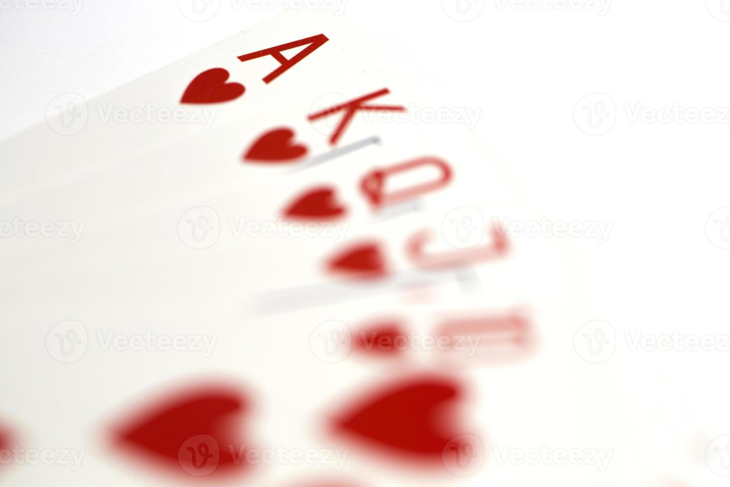 jugando a las cartas foto