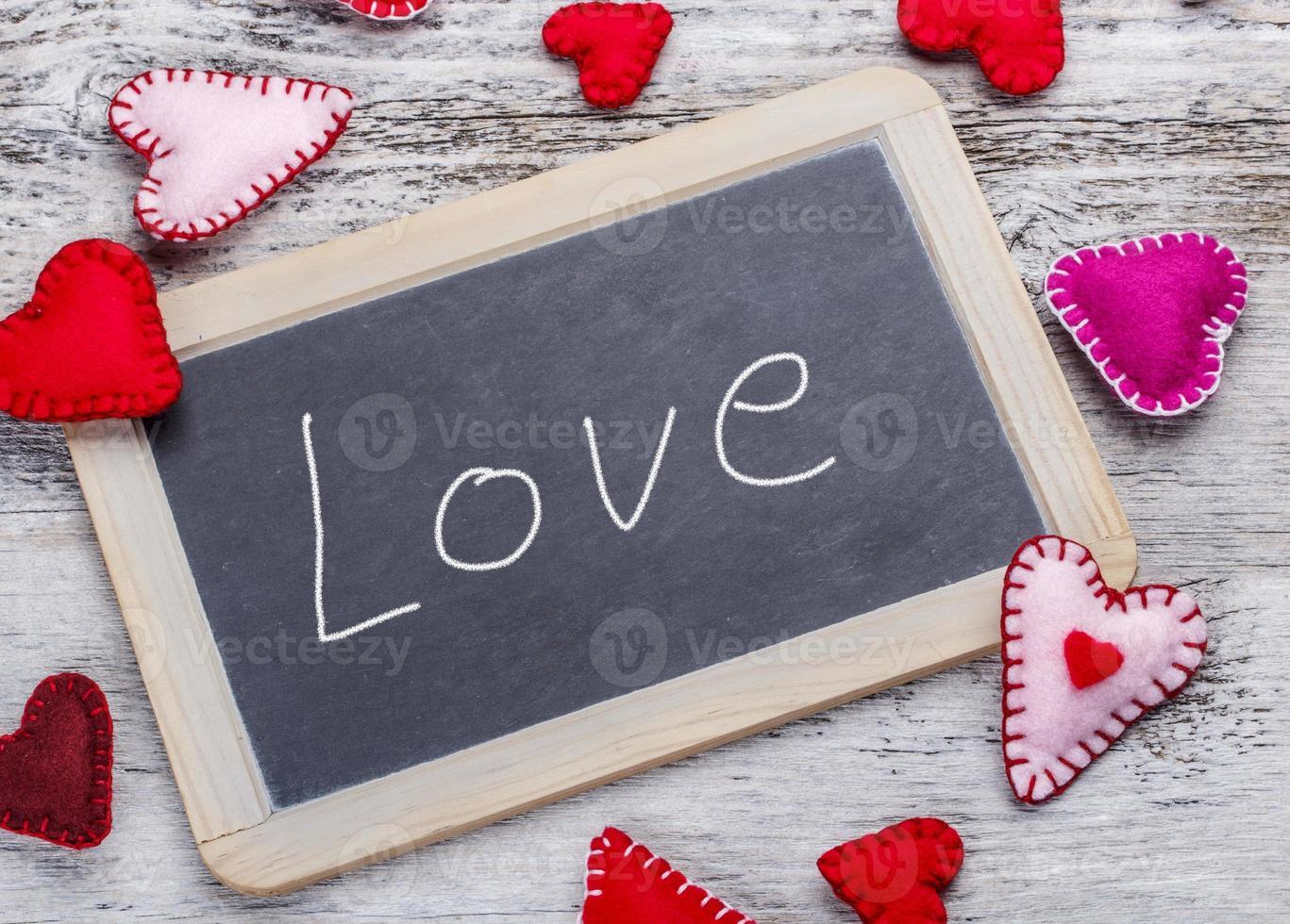amor mensaje escrito a mano foto