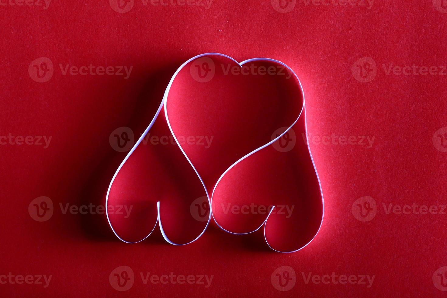 fondo de corazones de papel st. enamorado foto