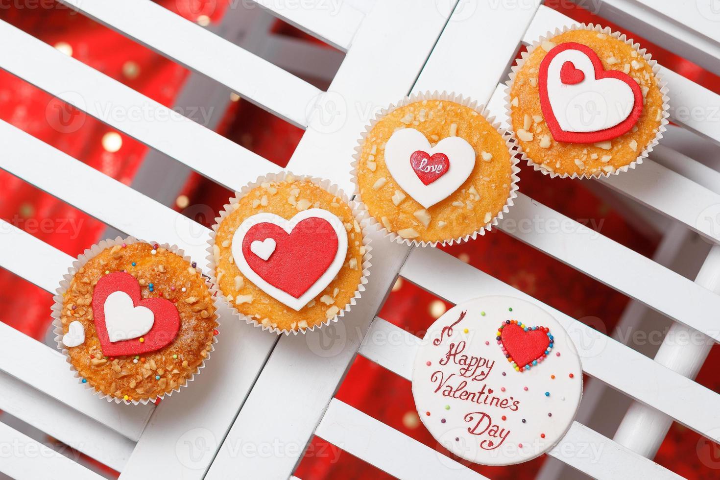 muffins de san valentín foto