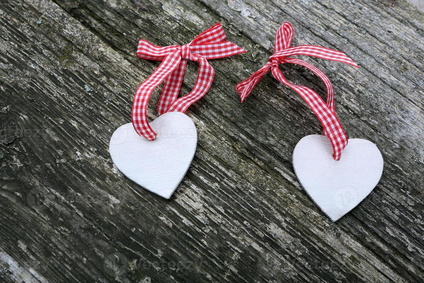 dos corazones en el dia de san valentin foto