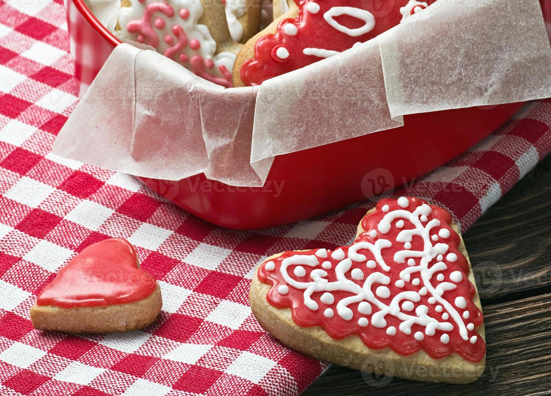 corazones horneados para el dia de san valentin foto
