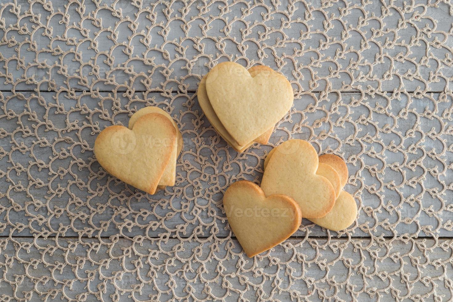 galletas de mantequilla de san valentin en forma de corazon foto