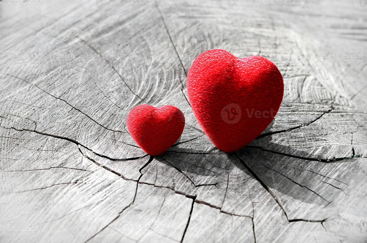 Fondo del día de San Valentín con corazones. foto
