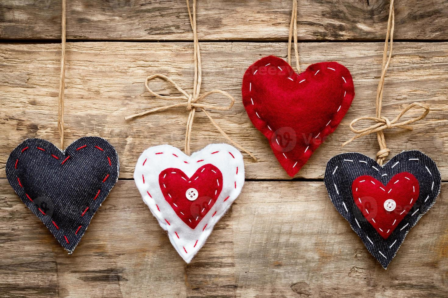 tarjeta de corazón de amor de san valentín foto