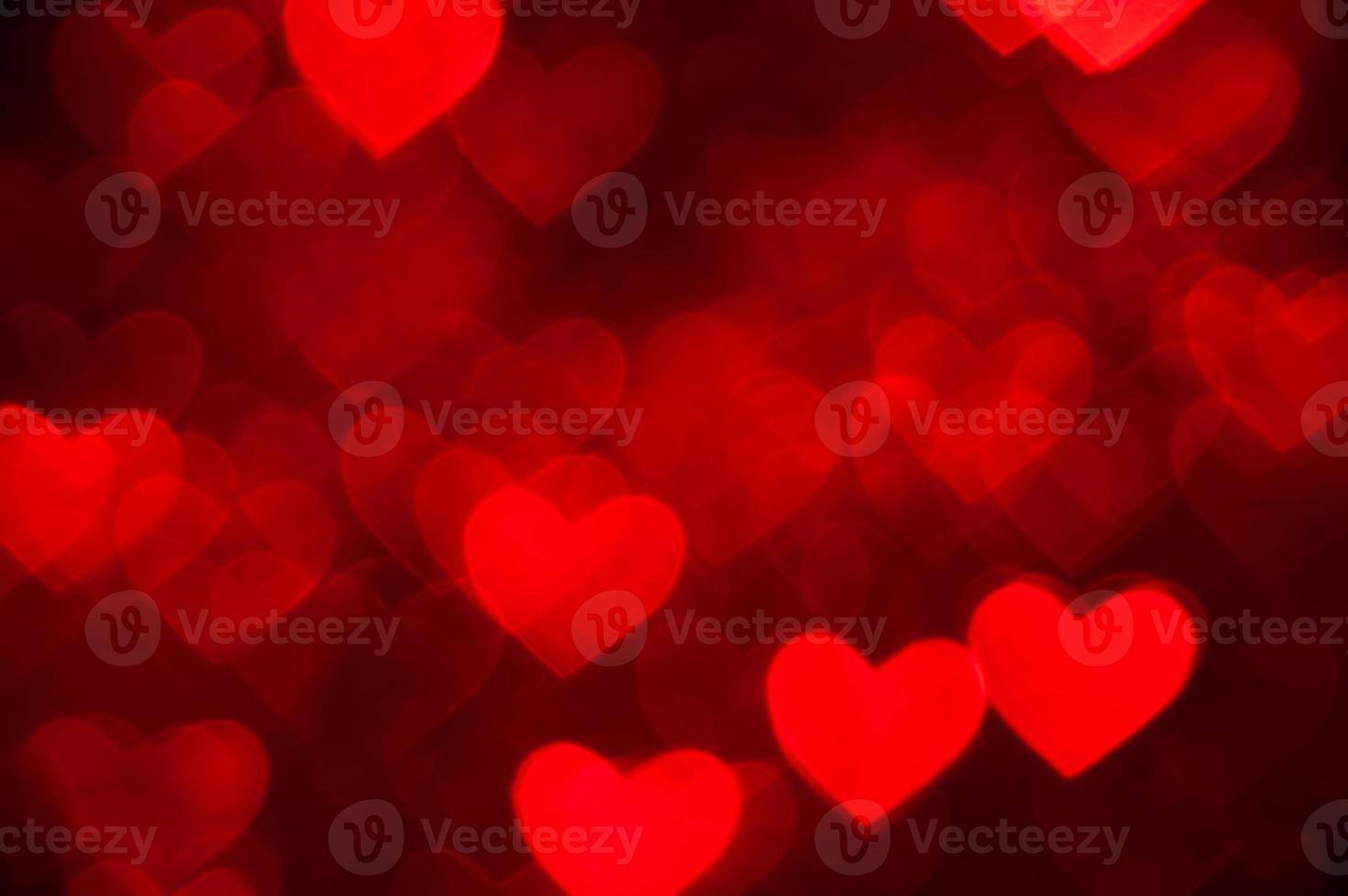 fondo de vacaciones en forma de corazón rojo foto