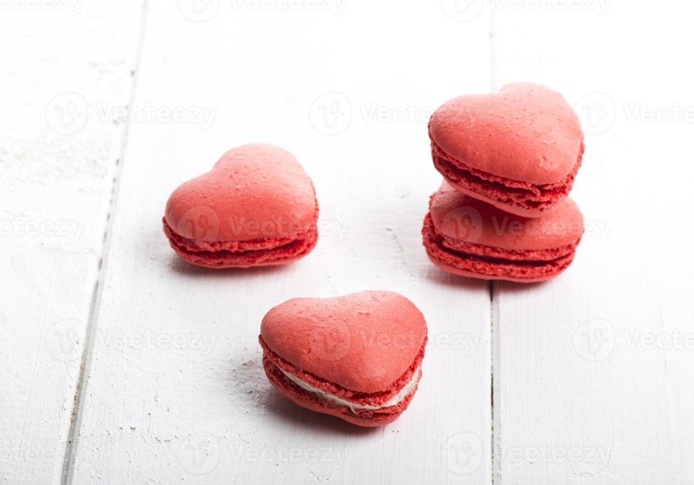 deliciosas galletas en forma de corazón hechas a mano foto