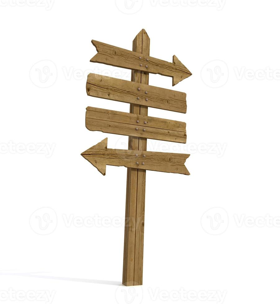 old wooden signpost photo