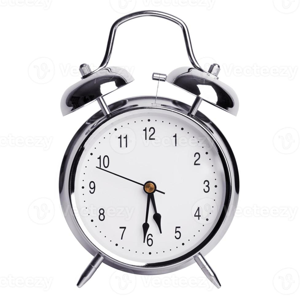 reloj despertador redondo de metal foto