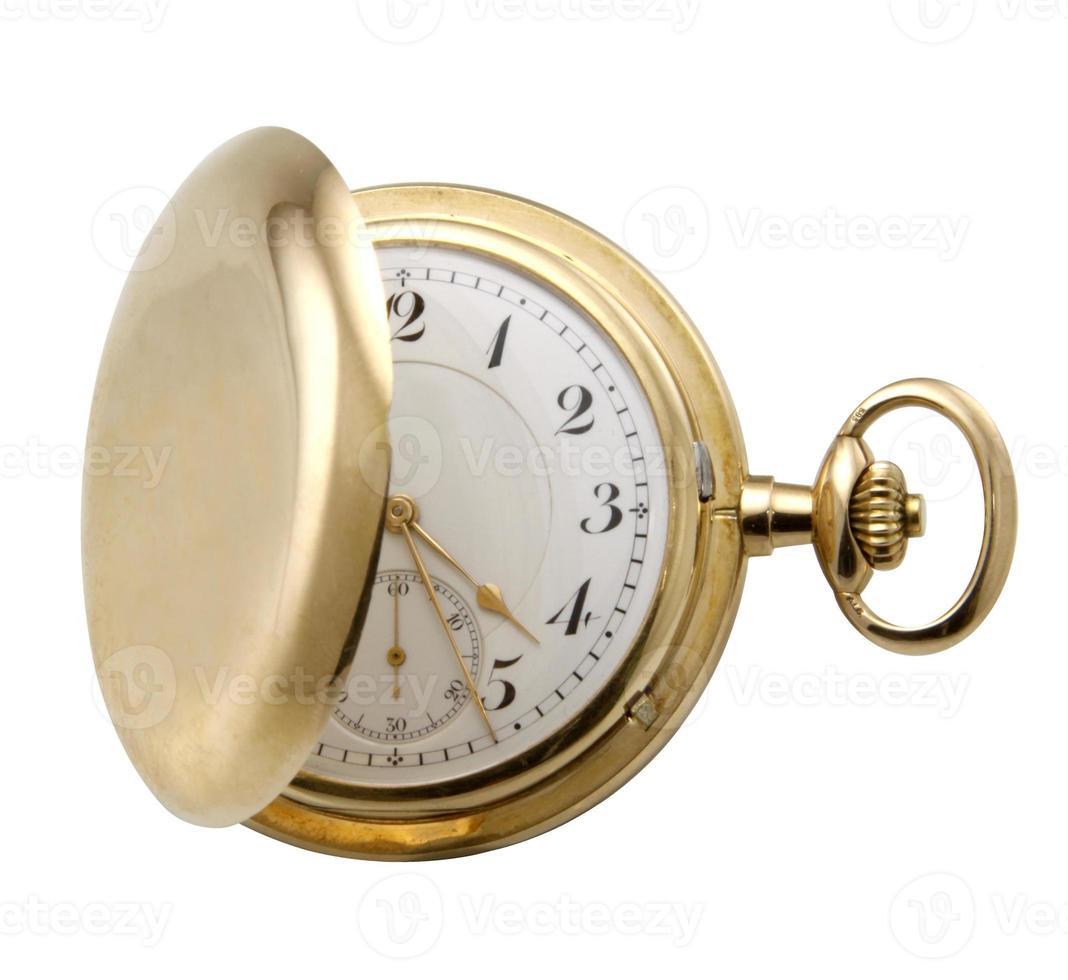 reloj dorado. foto
