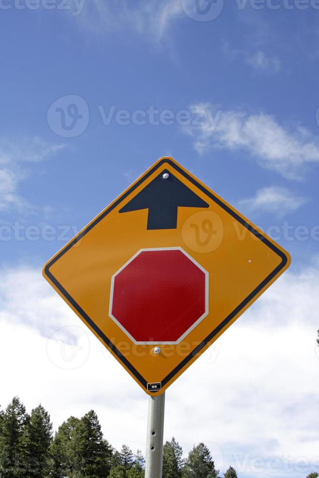 Stop sign ahead photo