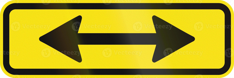 El signo se aplica en ambas direcciones en Australia foto