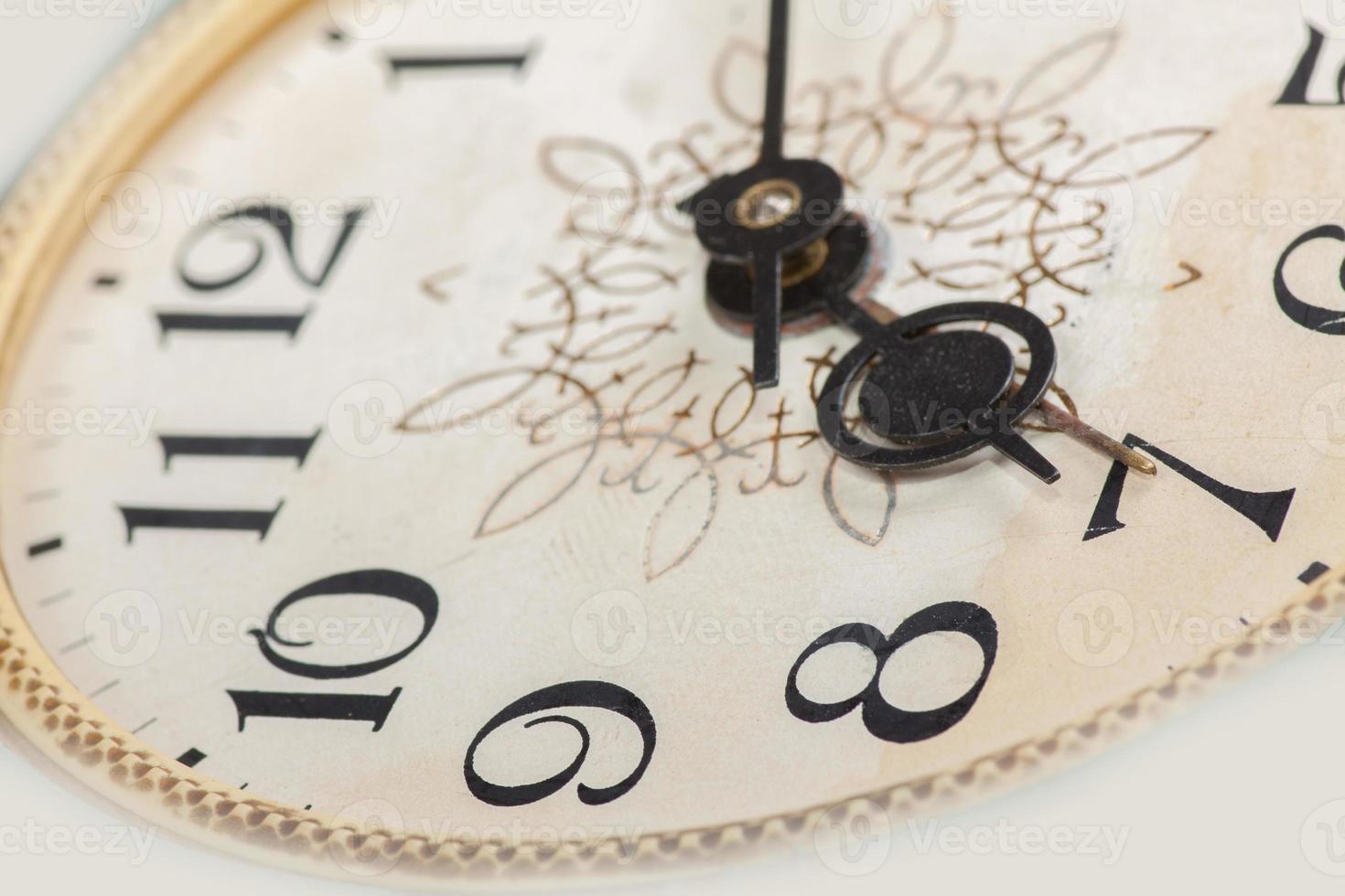 cara de reloj, macro foto