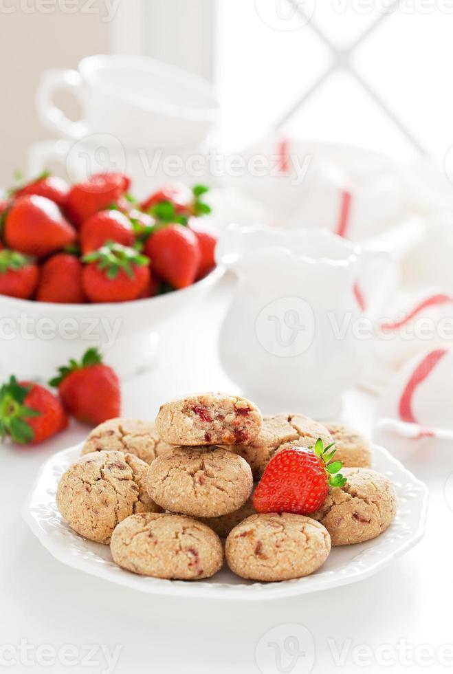 Oat bran cookies photo