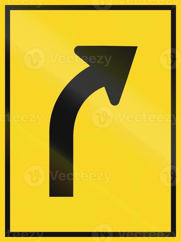Signo de descripción general de carril en Canadá foto