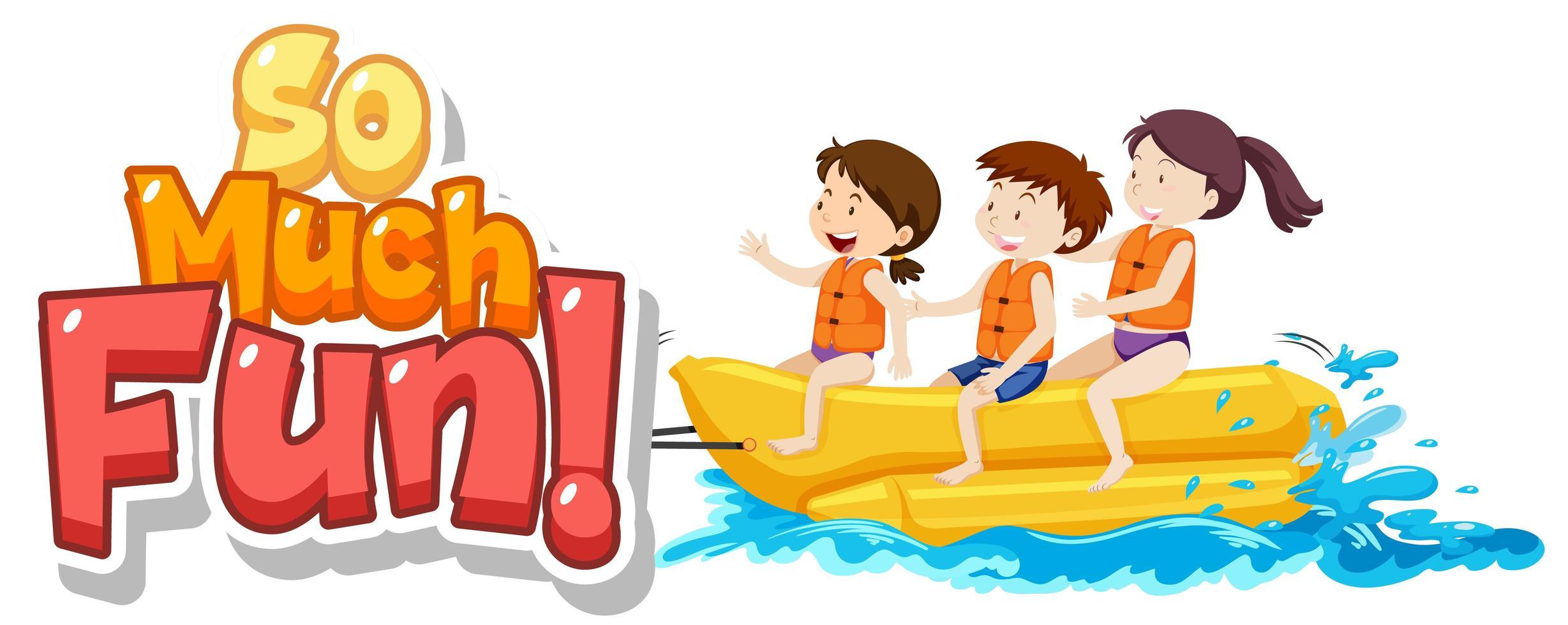 zoveel leuke tekst met kinderen die in water spelen vector