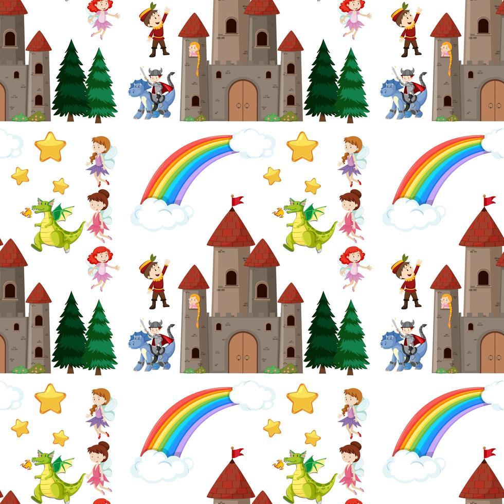 elementos de conto de fadas de crianças perfeitas vetor