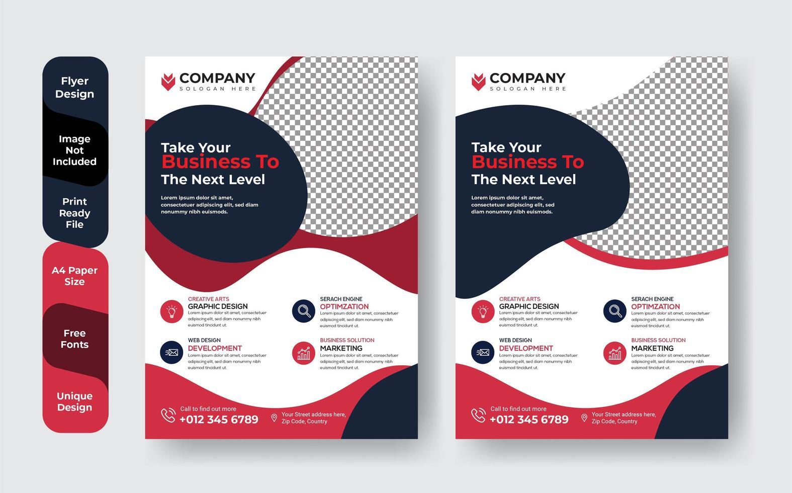 set jaarverslag brochure folders vector