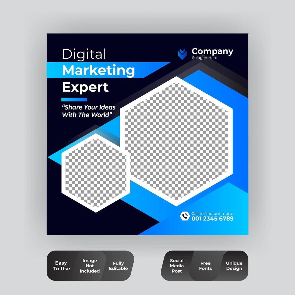 Digital Business Marketing Banner vektor